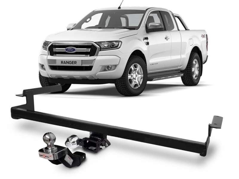 Engate para reboque Ford Ranger 2012 á 2020 - cabeça removivel - 700kg
