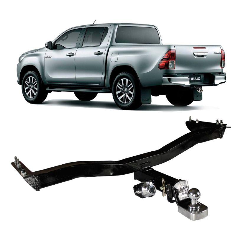 Engate para reboque Toyota Hilux 2006 a 2020 - Cabeça Removel - 800kg