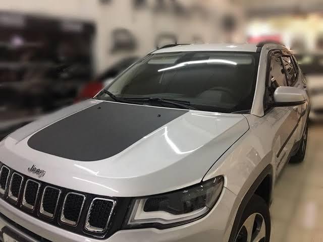 Envelopamento Capô Jeep Compass -  Preto Fosco