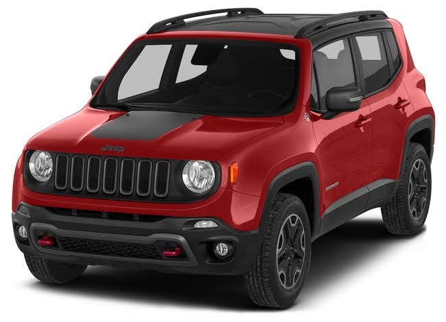 Envelopamento Capô Jeep Renegade -  Preto Fosco