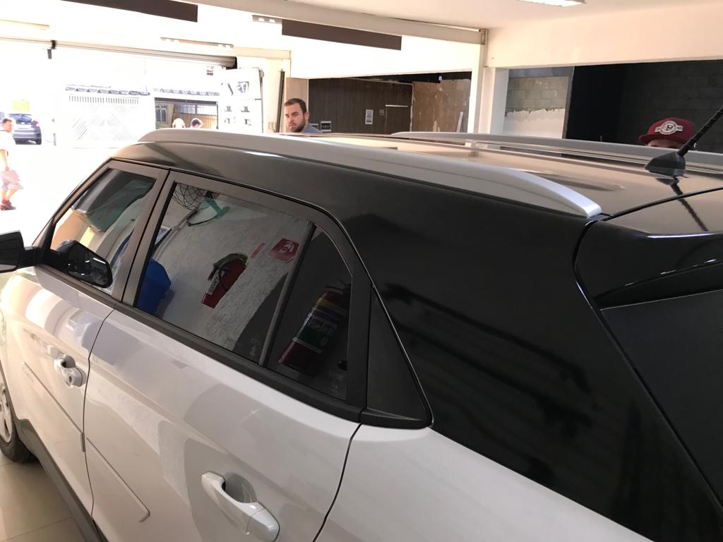 Envelopamento de Teto Hyundai Creta - Completo  Colunas e Aerofólio - Black Piano