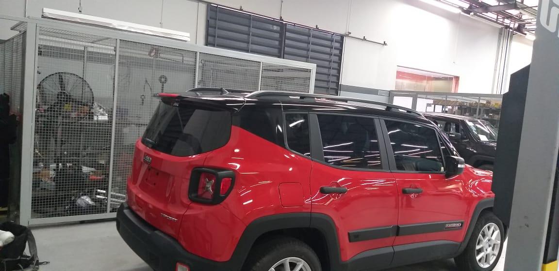 Envelopamento de Teto Jeep Renegade ( KIT-B ) Teto + Colunas + Aerofolio  - Black Piano / Preto Fosco