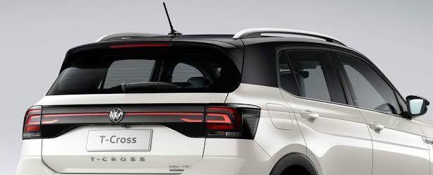 Envelopamento de Teto VW Tcross - Completo Teto Colunas e Aerofólio - Black Piano
