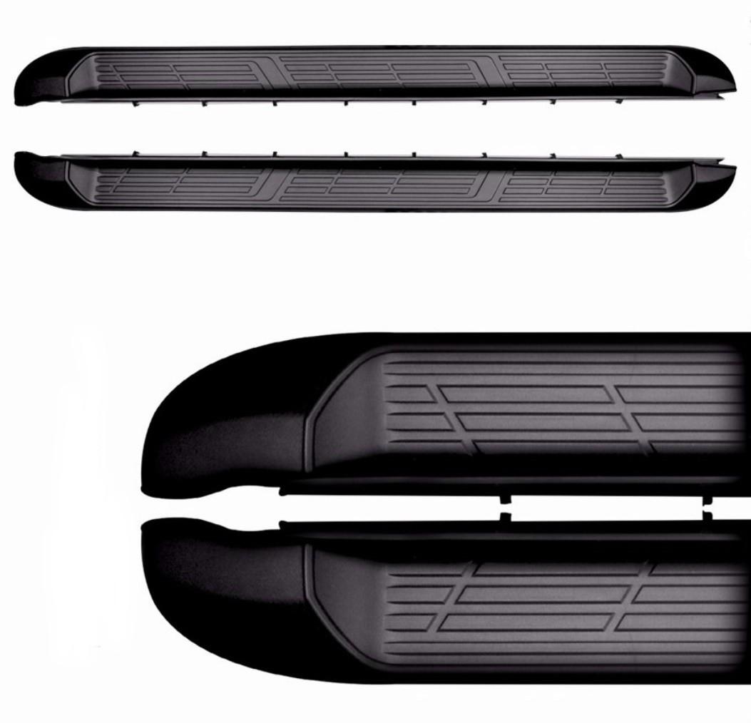 Estribo Lateral HILUX 2016 á 2020 SRV SRX SR STR Plataforma - Alumínio Preto - Cabine Dupla