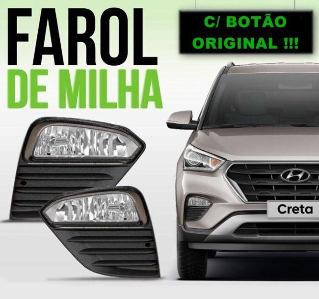 Kit Farol de Milha Neblina Hyundai Creta 2017 á 2019 - Acompanha Suporte  / Interruptor Original