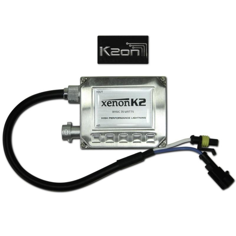 Kit Xenon K2 Basic  - Hid 6000k / 4300k - Lampada E Reator Para Carro  H7, H3, H1, HB4 (9006), HB3 (9005), H11, H27