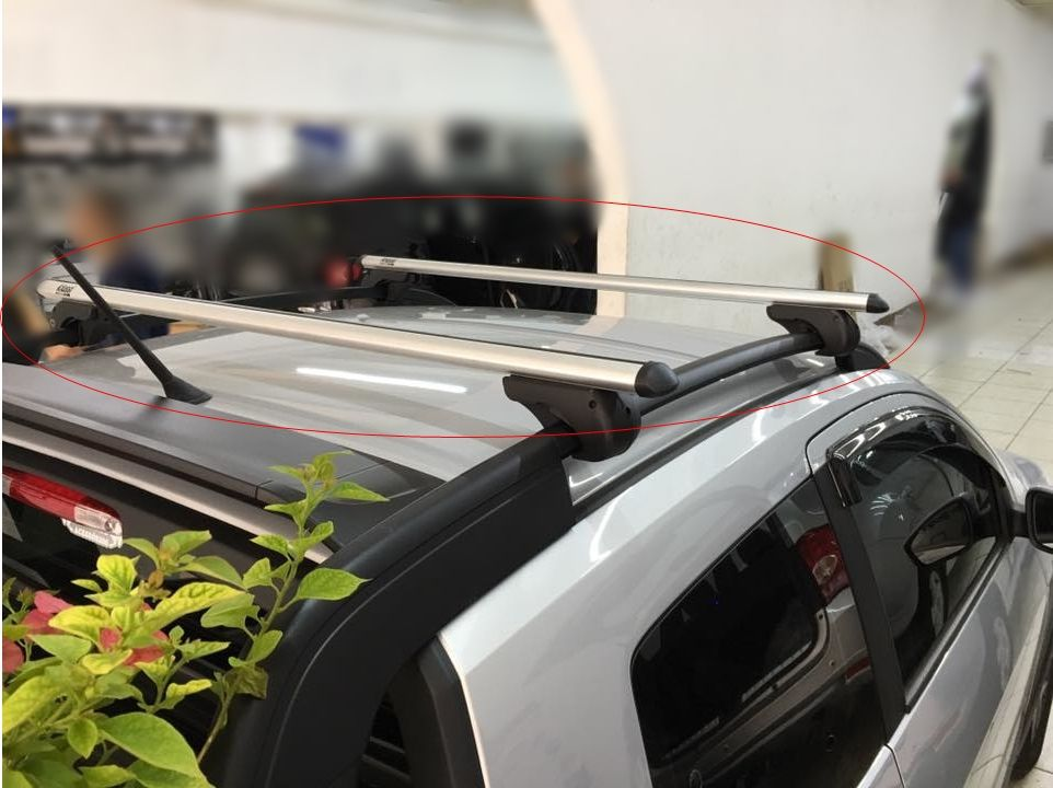 Rack De Teto GM Tracker 2015 a 2019 Kiussi Belluno 117CM Com Chave - Preto / Prata