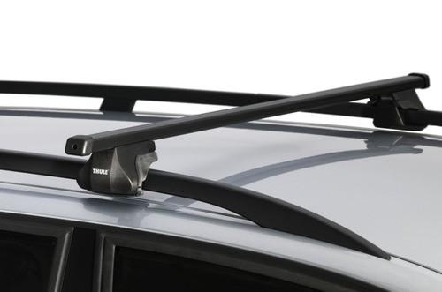 Rack Thule SmartRack trilhos elevado universal completo que inclui bases, travas e Thule AeroBars.-