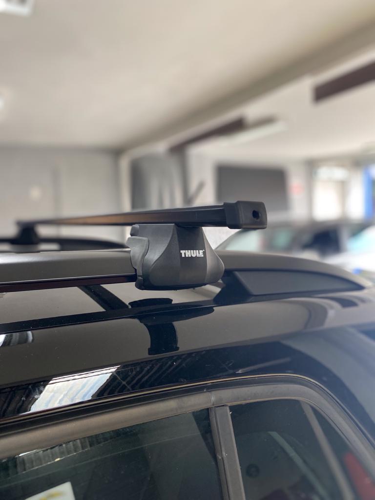 Rack VW Tcross - THULE SmartRack trilhos elevado completo que inclui bases, travas e Thule AeroBars.-