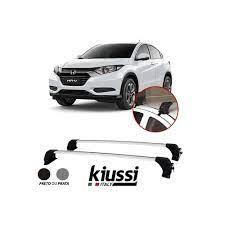 Travessa Rack Teto Honda HRV Aluminio - Kiussi 60 kg c/ Chave - compativel c/ Transbike , Prancha , Bagageiro