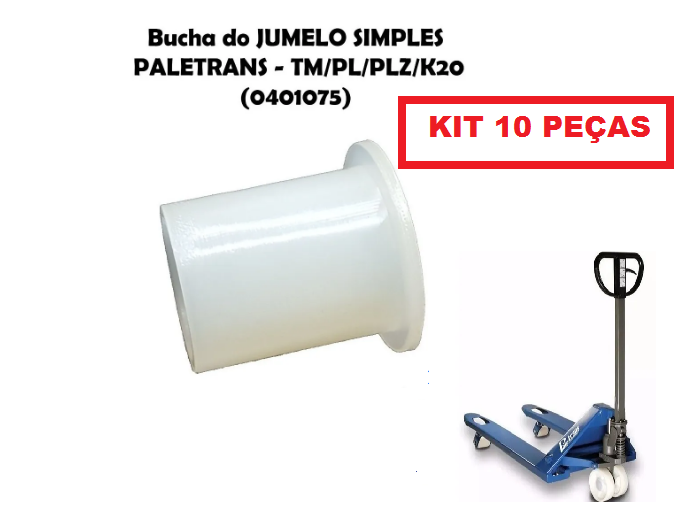 10 KIT BUCHA DO JUMELO SIMPLES TM2220 TM3020 PALETRANS