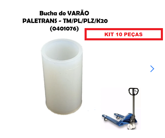 10 KIT BUCHA DO VARÃO PALETEIRA TM2220 TM 3020 PALETRANS