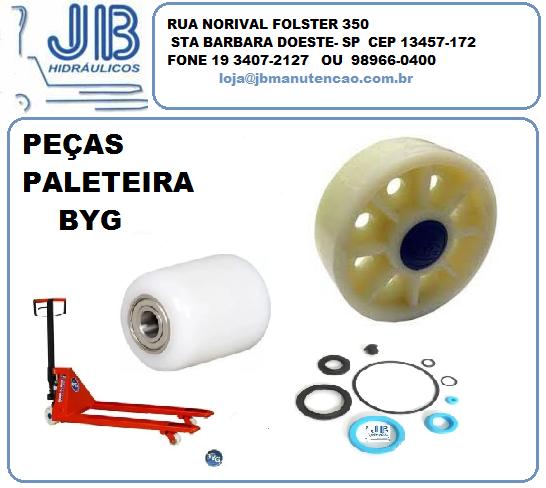 2 RODA DIRECIONAL NYLON 175X57 PALETEIRA BYG C/ROLAMENTO