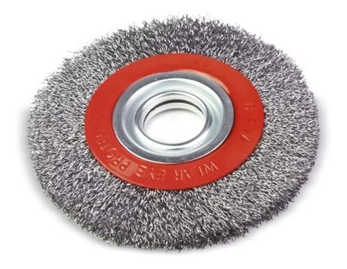 Escova De Aço Circular 6 Pol X 3/4 Pol Para Moto Esmeril
