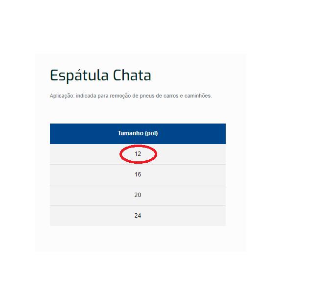 """Espátula Chata Borrachareio Borracharia 12""""  Pneus Promoção"""