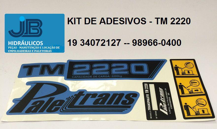 KIT DE ADESIVOS - TM 2220 PALETRANS