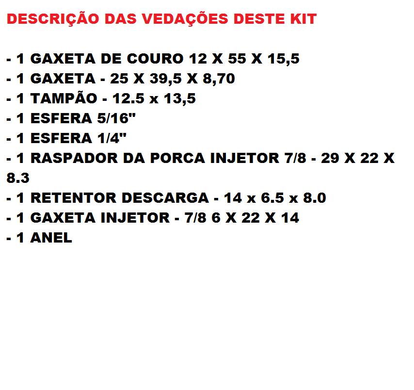 KIT REPARO VEDAÇÃO MACACO JACARE POTENTE BRASIL 2T