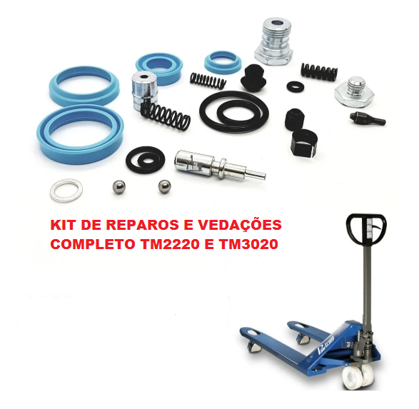 KIT VEDAÇÃO REPARO COMPLETO PALETEIRA PALETRANS TM 2220