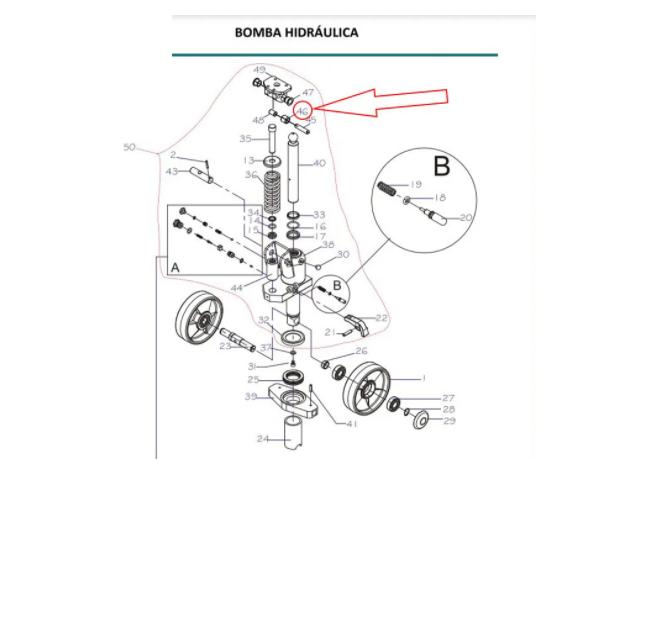 ROLETE COM BUCHA PALETEIRA PALETRANS TM 2220 / 3020