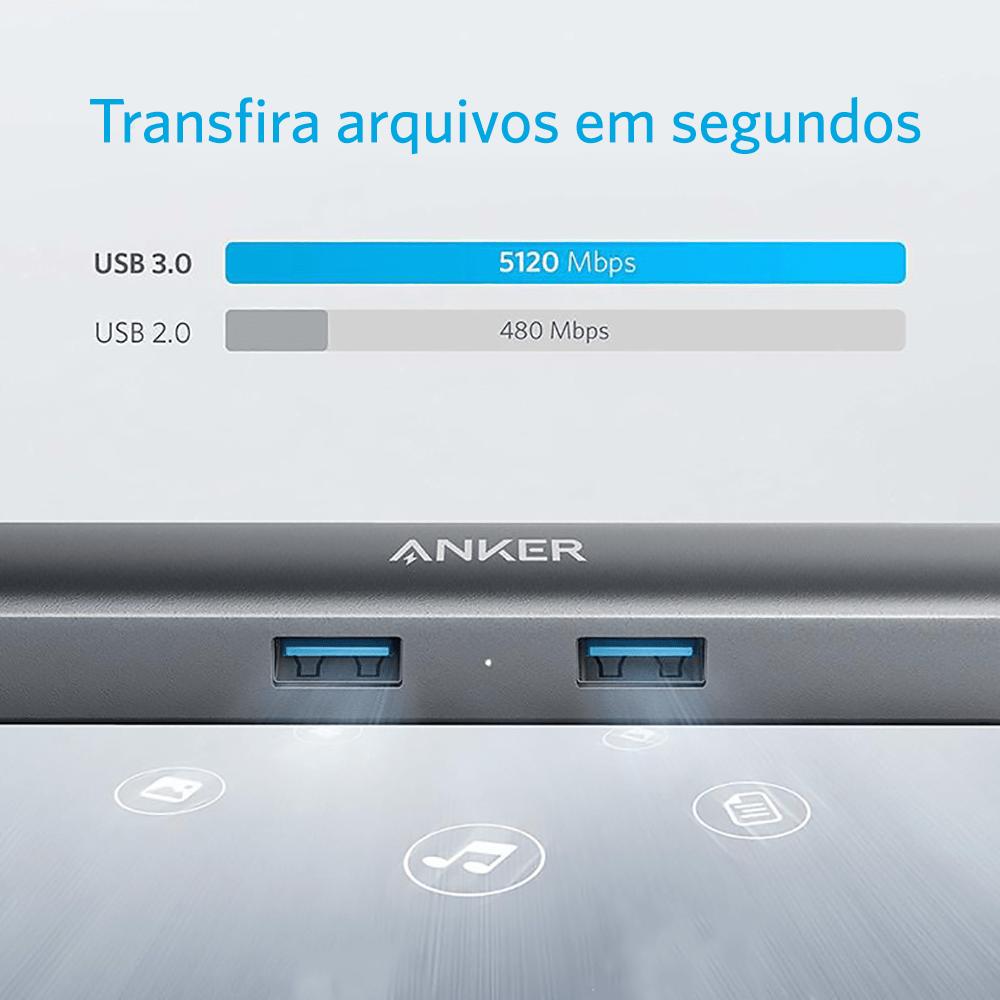 Cabo Anker Adaptador USB-C 5 Em 1  Cod. 11159784