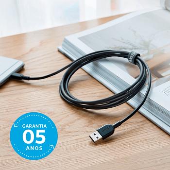 Cabo Anker Powerline Lightning II iPhone e iPad | 3 metros Preto Cod. 11132055