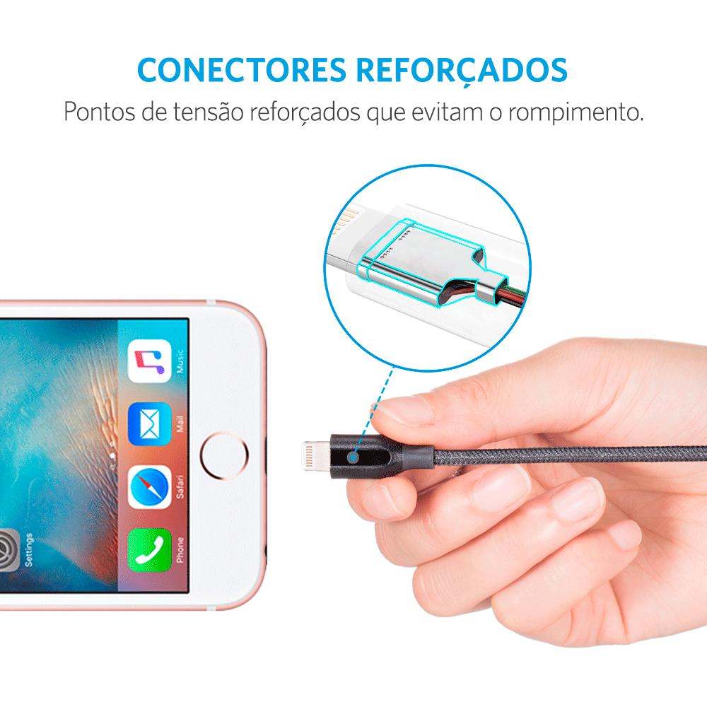 Cabo Anker Powerline+ Lightning iPhone e iPad | 1,8 metros Cinza Cod. 11132072