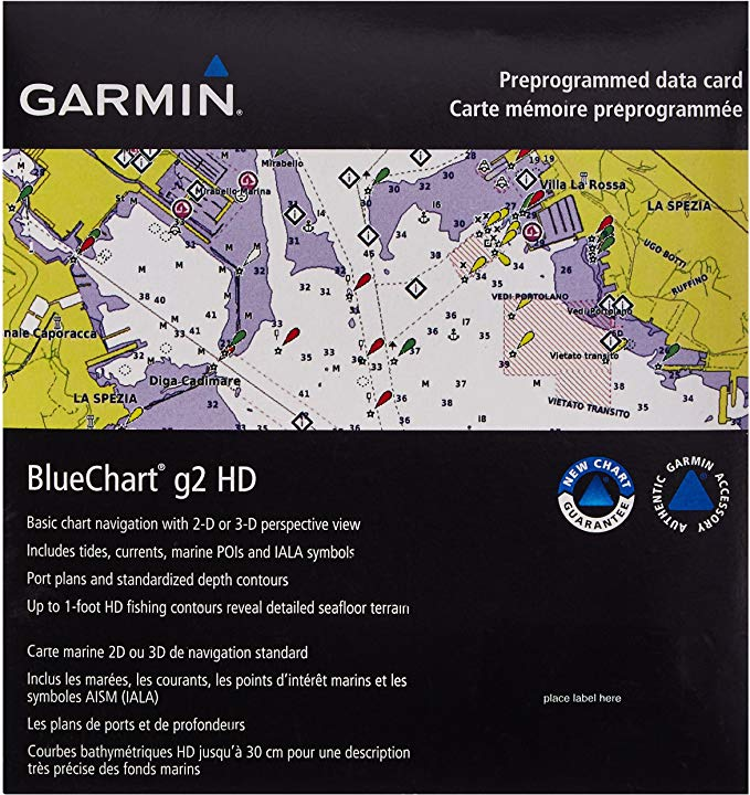 Carta Nautica GARMIN BLUECHART® G2 HD America do Sul 010-C1067-20