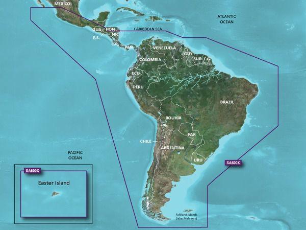 Carta Nautica GARMIN BLUECHART® G3 HD America do Sul 010-C1067-20