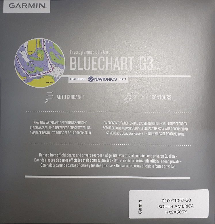Carta Nautica GARMIN BLUECHART® G3 HD America do Sul 010-C1067-20