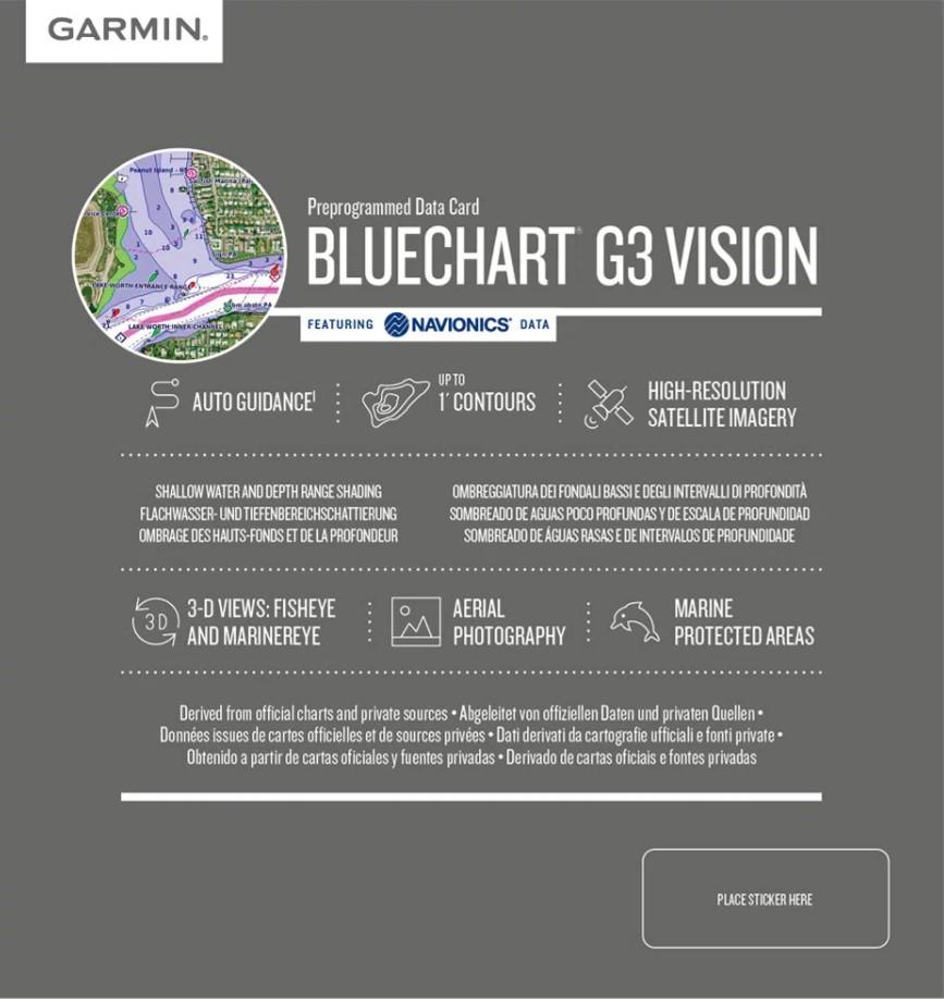 Garmin Carta Náutica Bluechart G3 Vision HD - Costa Leste da América do Sul - 010-C1062-00
