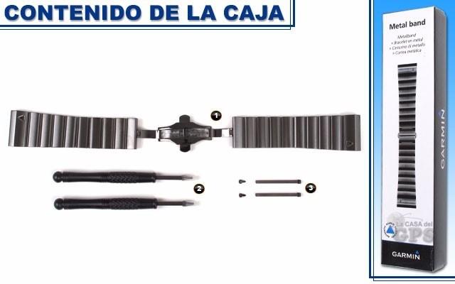 Garmin Pulseira Metal Fenix 3 Original 010-12168-04