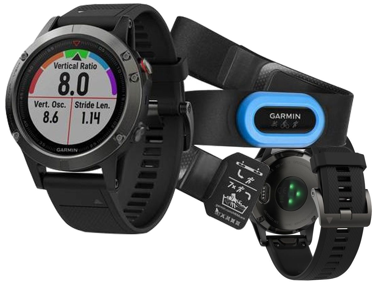 Smartwatch GPS GARMIN FENIX 5 CINZA PERFORMER BUNDLE 010-01688-30