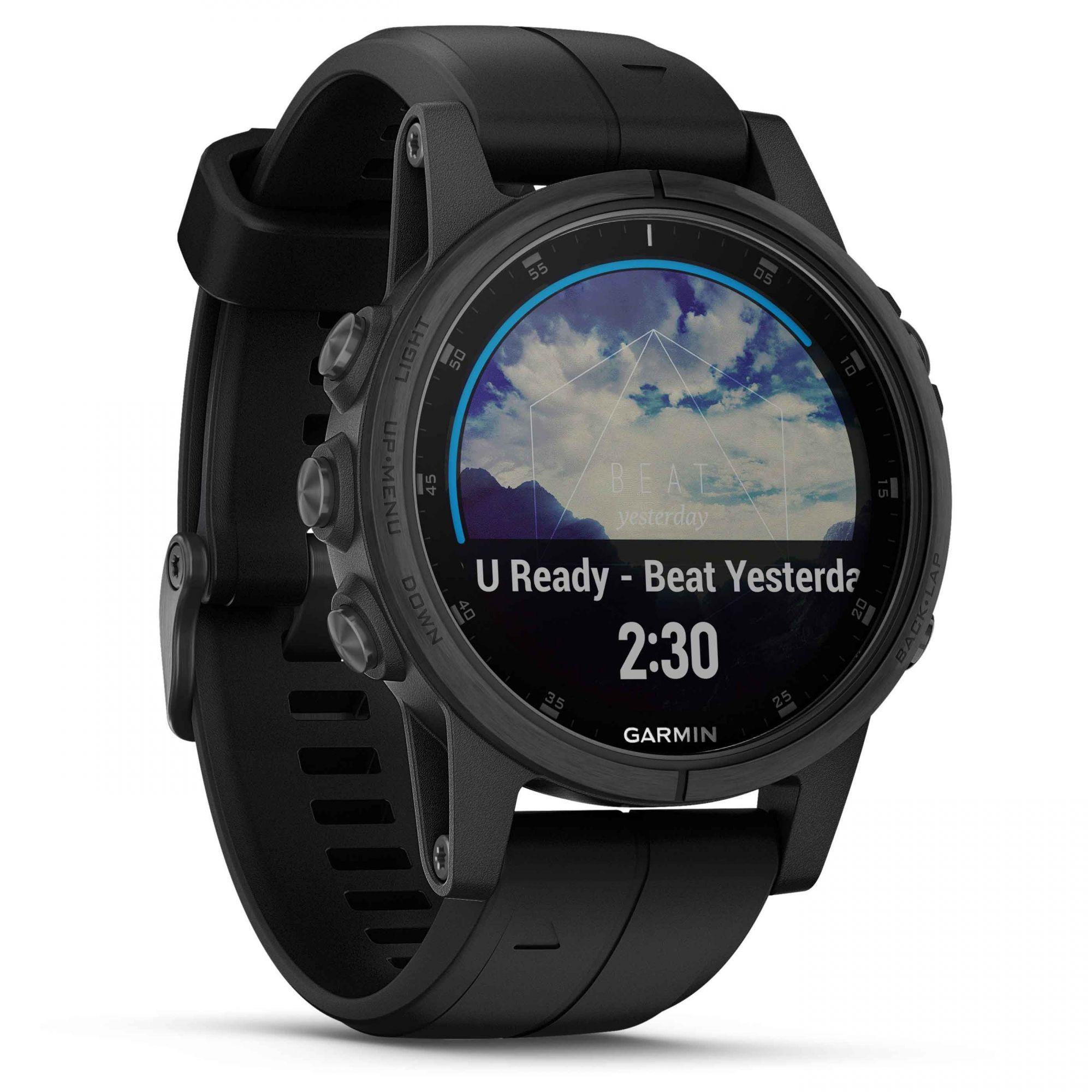 Smartwatch GPS Garmin Fenix 5s Plus Preto Tela Safira 010-01987-03