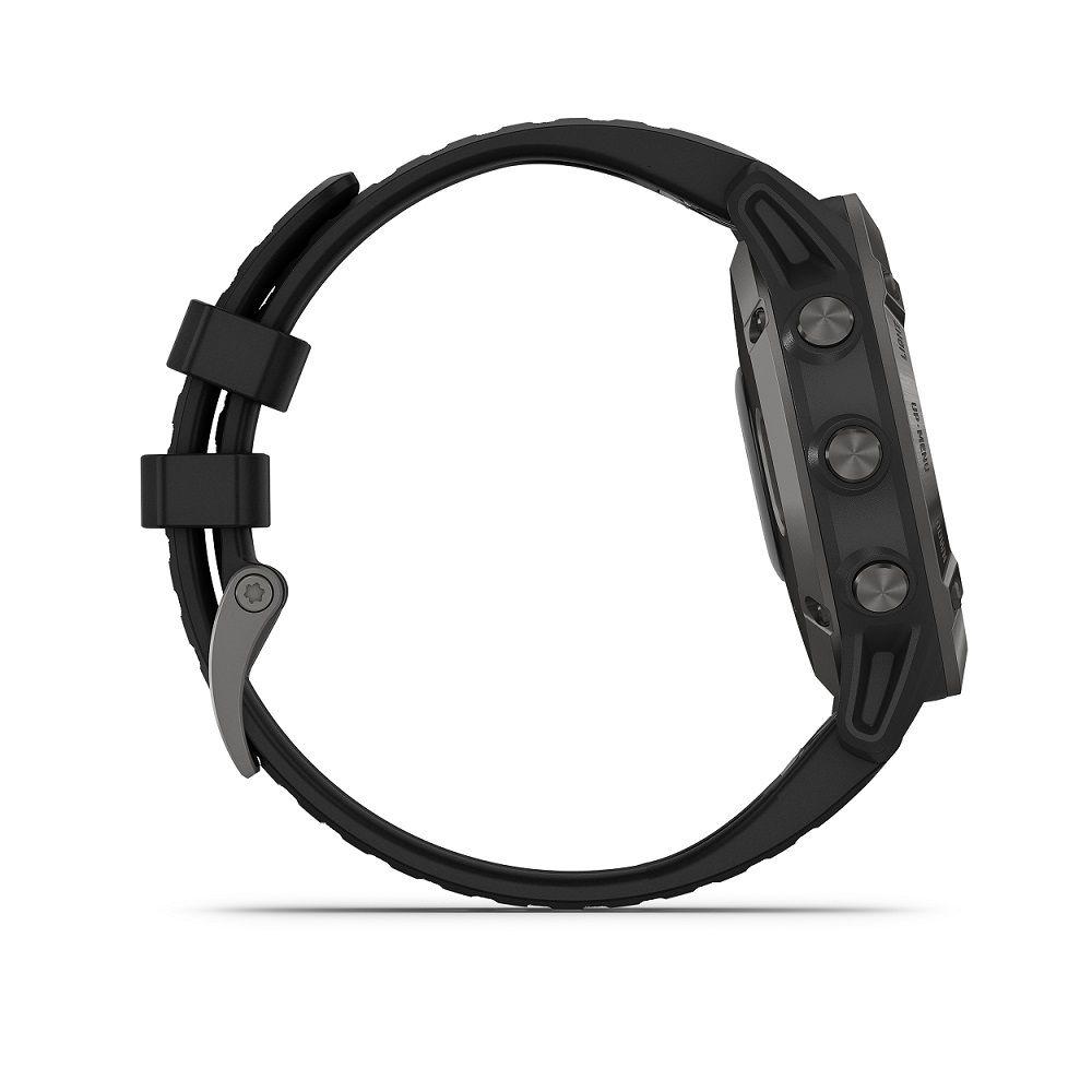 Smartwatch Gps Garmin Fenix 6 Pro Cinza com pulseira Preta Safira 010-02158-25