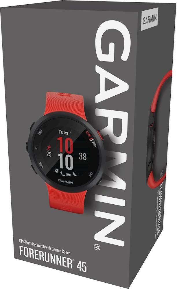 Smartwatch GPS Garmin Forerunner 45 Vermelho 010-02156-06