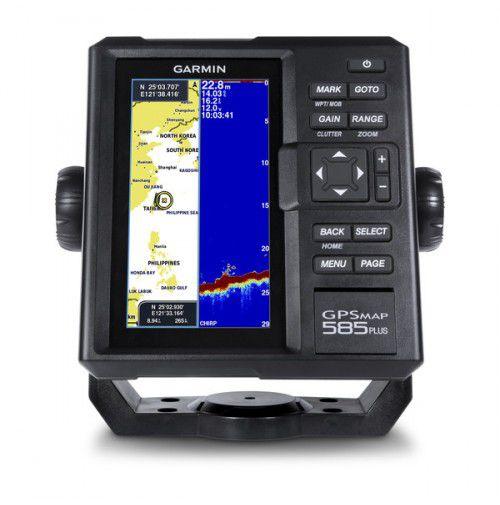 Gps Sonar Garmin GPSMAP 585 Plus com transdutor e carta nautica  010-01711-00