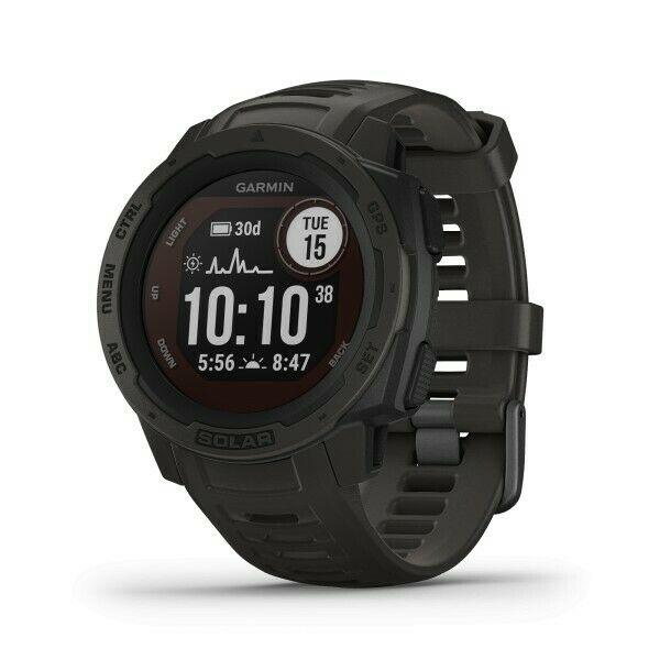 GPS Garmin Relógio Monitor Cardíaco de Pulso Instinct Solar Grafite 010-02293-00