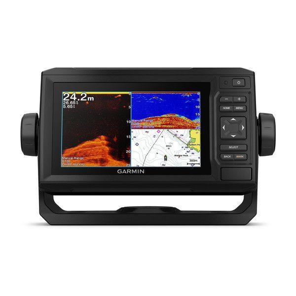Gps Sonar Garmin Echomap 62CV Plus + Transdutor + Carta Náutica G2 Vision