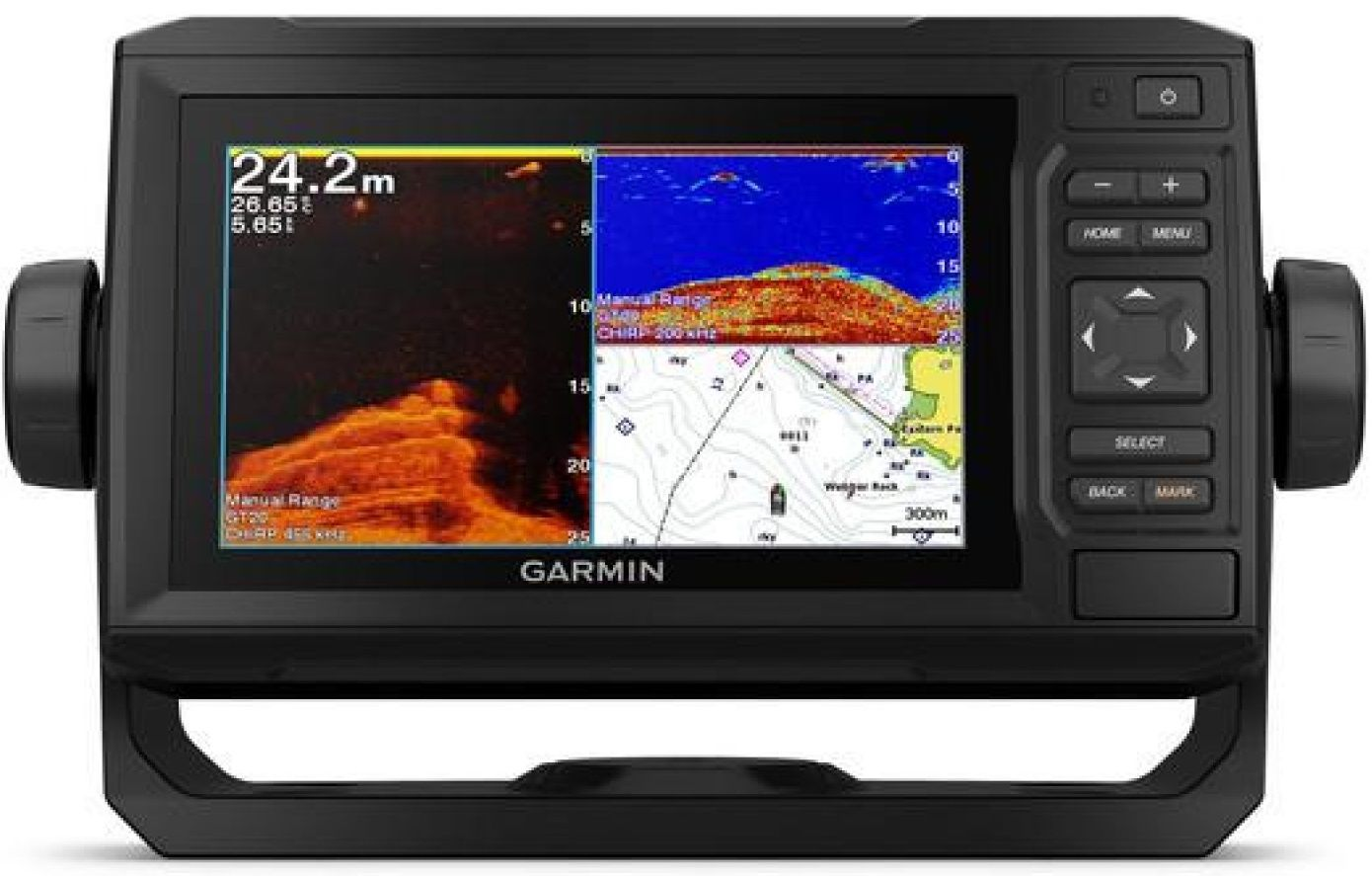 Gps Sonar Garmin Echomap 62CV Plus Transdutor CV20-TM 4 pinos 010-01888-01