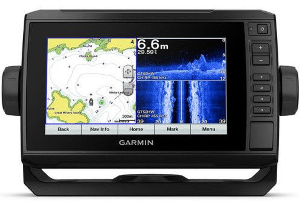 Gps Sonar Garmin Echomap 72cv Plus + Transdutor + Carta Náutica G2 Vision 010-01892-00