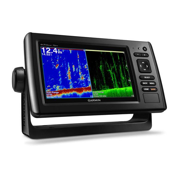 Gps Sonar Garmin Echomap 72DV com 2 cartas nauticas