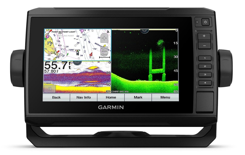 Gps Sonar Garmin Echomap 72CV UHD com Transdutor GT24UHD-TM e Carta Náutica 010-02333-01