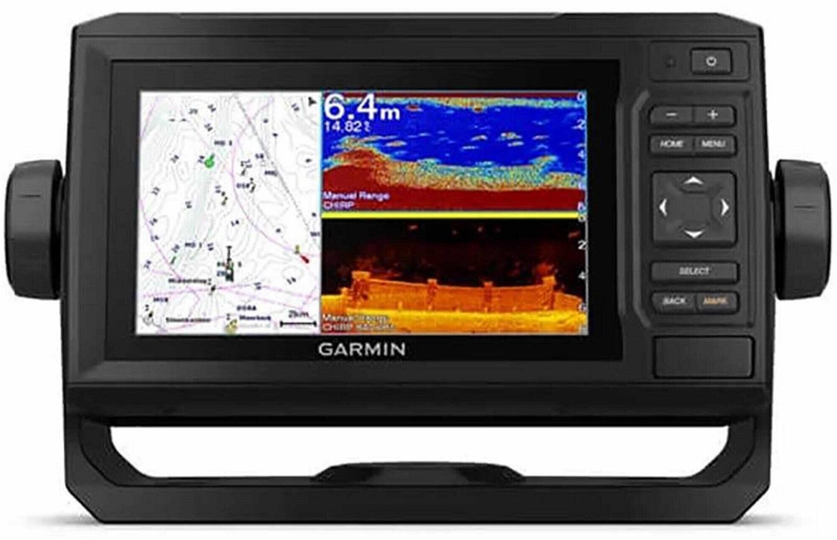 Gps Sonar Garmin Echomap UHD 62CV 010-02329-01 e Carta Náutica Bluechart G3 010-C1062-20