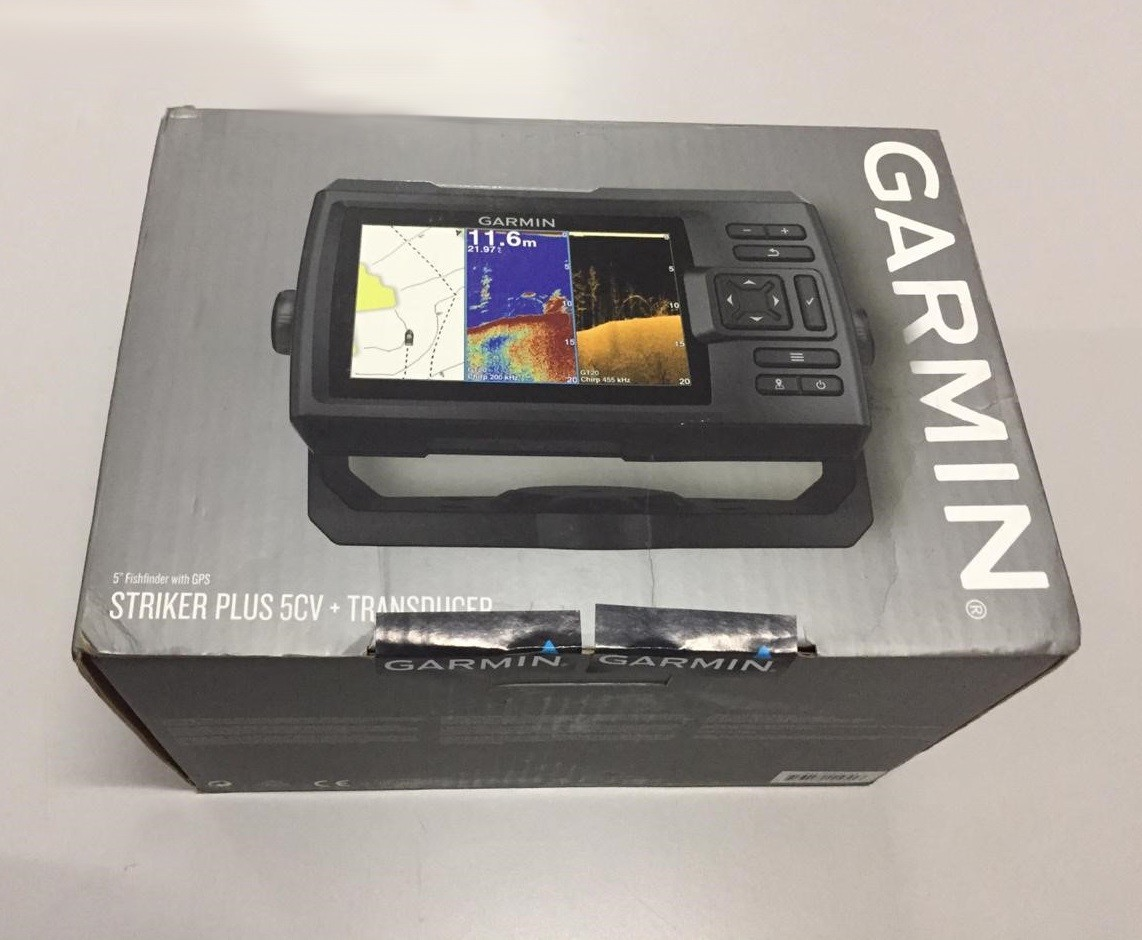 Gps Sonar Garmin Striker 5CV Plus 010-01872-03 - Caixa Danificada no Transporte
