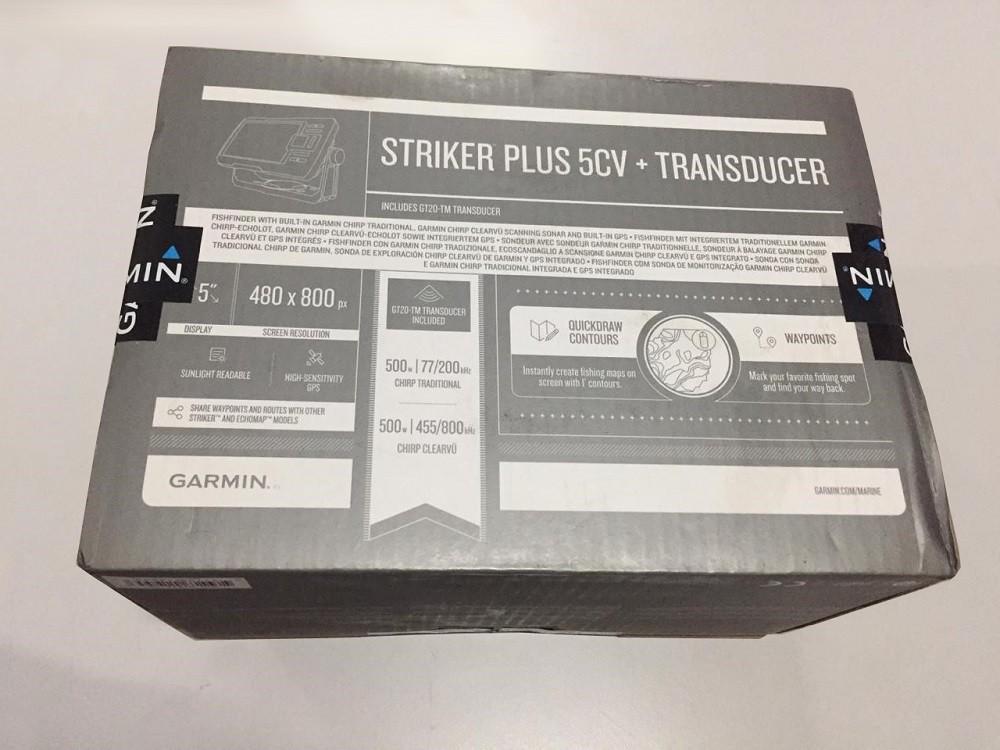 Gps Sonar Garmin Striker 5CV Plus 010-01872-03 - Caixa Danificada no Transporte