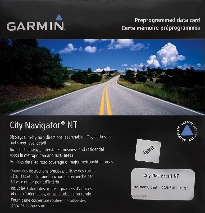 Mapa Rodoviário Brasil Original Garmin City Navigator 010-10759-00