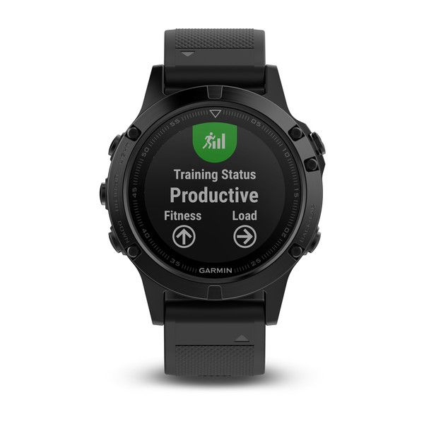 Smartwatch GPS Garmin Fenix 5 Safira Preto Bundle - 010-01688-32