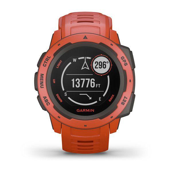 Relógio GPS Garmin Instinct Vermelho Com Monitor Cardíaco - 010-02064-02