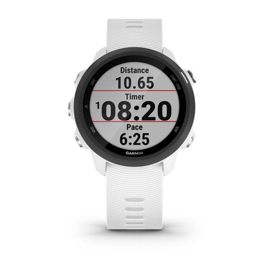 Relogio Monitor Cardíaco GPS Garmin Forerunner 245 Music Branco e Preto 010-02120-31