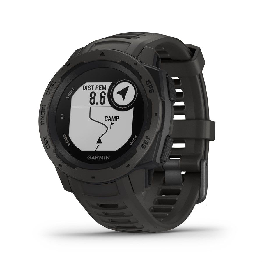 Relogio Monitor Cardíaco de Pulso com GPS Garmin Instinct Preto 010-02064-00 Autorizada Garmin
